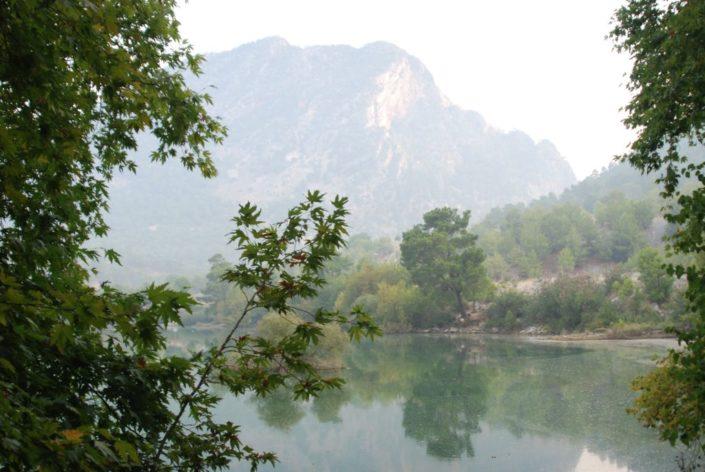 Bergregion um Manavgat im Morgennebel